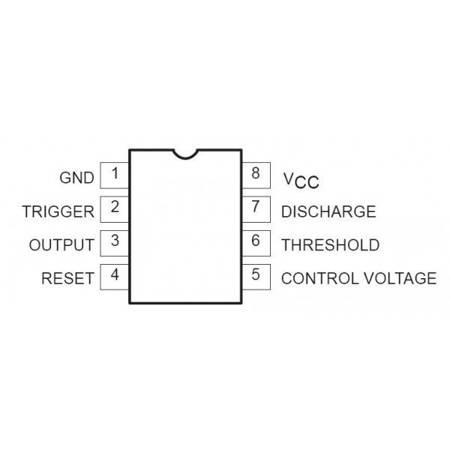 Układ scalony NE555 - licznik/ generator czasowy - obudowa DIP-8