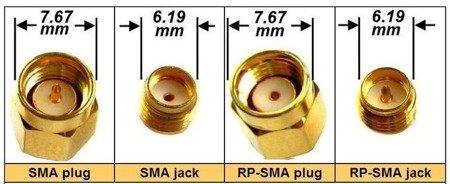 Wtyk SMA jack - złącze SMA proste do druku (do lutowania)