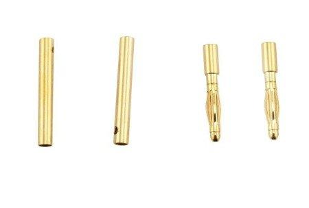 Wtyki GOLD - 2mm krótkie - para - konektory