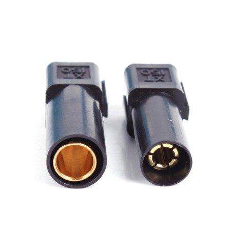 Wtyki XT150 - black - komplet wtyk i gniazdo wysoko-prądowe w osłonie