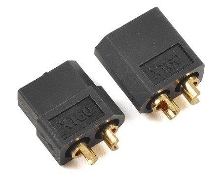 Wtyki XT60 - czarne (black) - kompletne złącze XT60