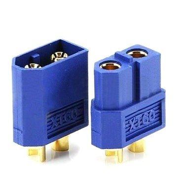 Wtyki XT60 - niebieskie (blue) - kompletne złącze XT60