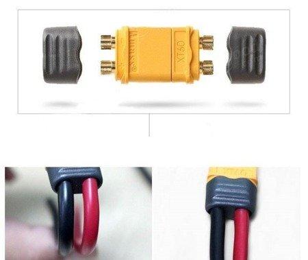 Wtyki XT60+ z osłoną - Konektor XT60 Plus - kompletne wysoko prądowe złącze - 1 para - AMASS