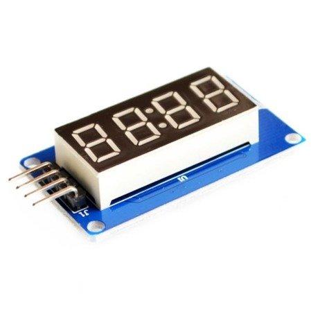 Wyświetlacz LED 4 cyfry + sterownik TM1637 - Arduino