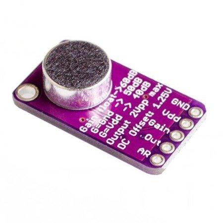 Wzmacniacz mikrofonowy CMA-4544PF-W MAX9814 z mikrofonem elektretowym