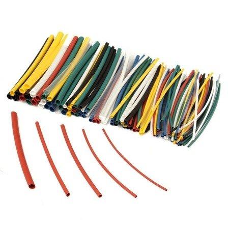 Zestaw 140 szt rurek termokurczliwych - kolor - 1 do 5mm - rurka termokurczliwa