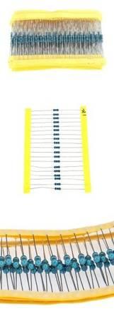 Zestaw 16 rodzajów rezystorów 0,25W - 16x10 szt - rezystory 160szt