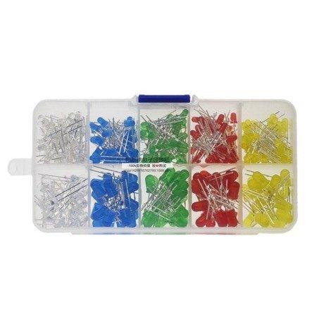 Zestaw 300szt. diod LED - 5 kolorów - 3mm i 5mm