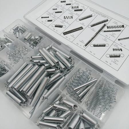 Zestaw Sprężyn 200 szt - sprężynki ściągające i rozciągające