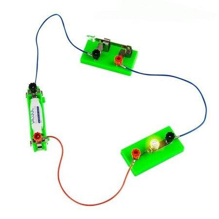 Zestaw dydaktyczny do doświadczeń i budowy prostych obwodów elektrycznych