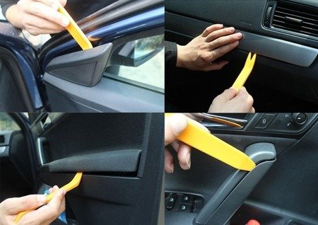 Zestaw narzędzi do otwierania i demontażu paneli - tapicerki - Car Audio - 4 szt