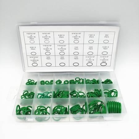 Zestaw uszczelek 270szt - zielone - Uniwersalne oringi 5mm-17mm - O-ring