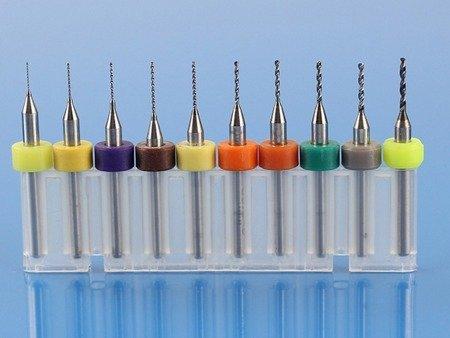 Zestaw wierteł do PCB - 0,3-1,2mm - 10szt. - wiertła do czyszczenia dysz drukarek 3D - L009W